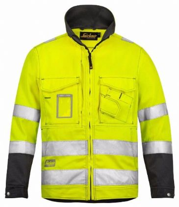 Snickers 1633 High-Vis Jacket, Class 3 (High Vis Yellow / Muted Black)